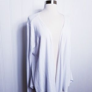 Simply Vera Vera Wang Whie Draped Cardigan
